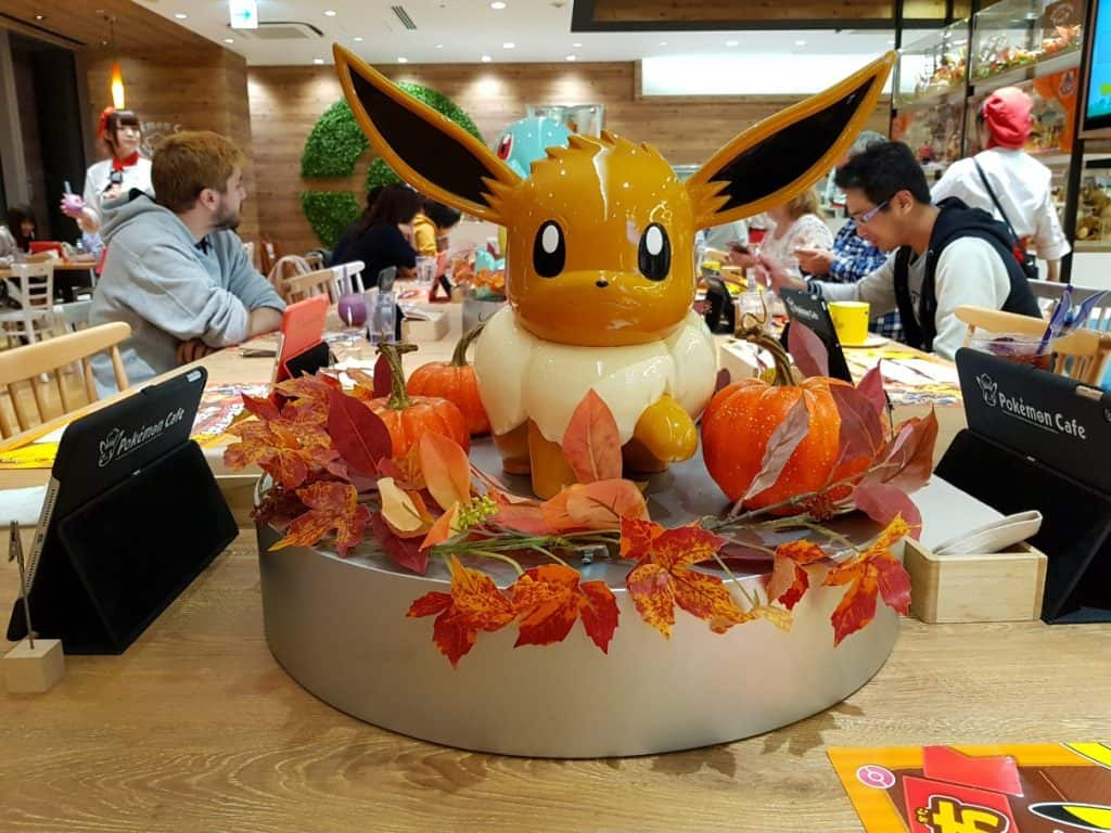 Eevee statue at Pokemon Cafe Tokyo