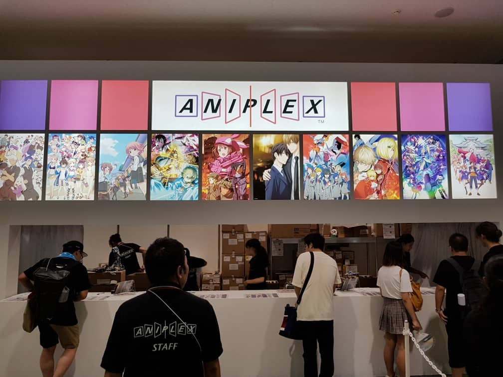 Aniplex exhibit at the Comiket