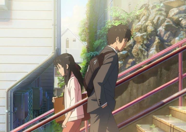 Mitsuha and Taki meet at red stairs (Tokyo, Yotsuya)
