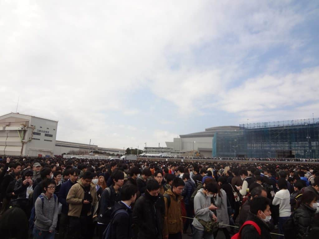AnimeJapan convention queuing