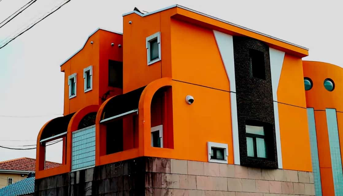 Bird Studio Toriyama, orange building in Aichi