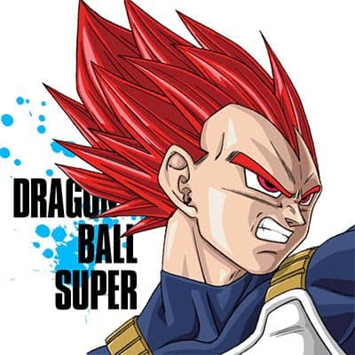 Vegeta Super Saiyan God drew it by Toyotaro