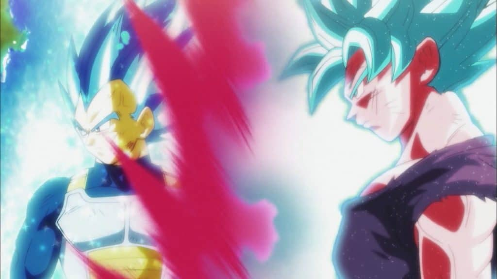 Vegeta beyond blue and Goku kaioken