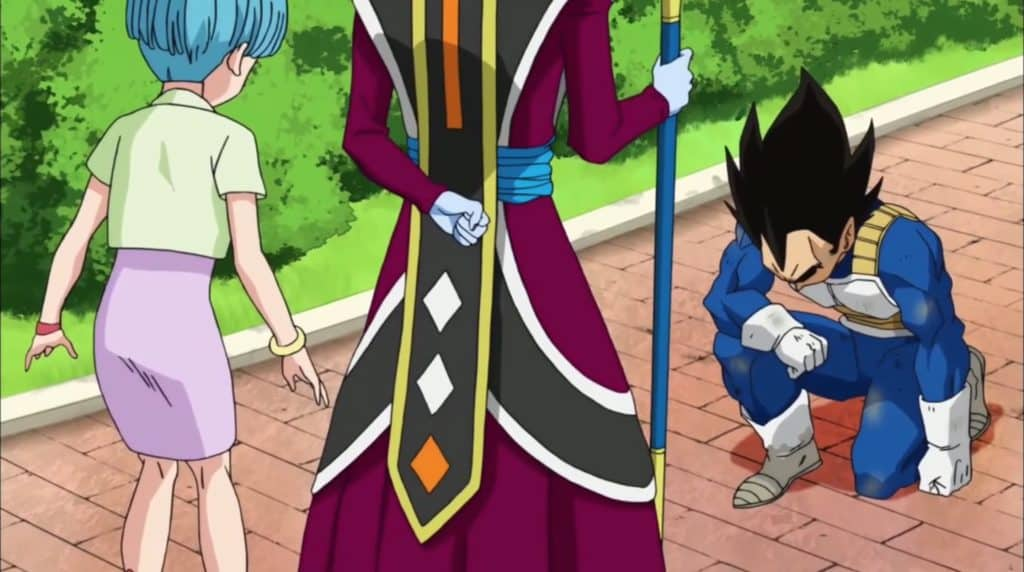 Whis training with Goku and Vegeta