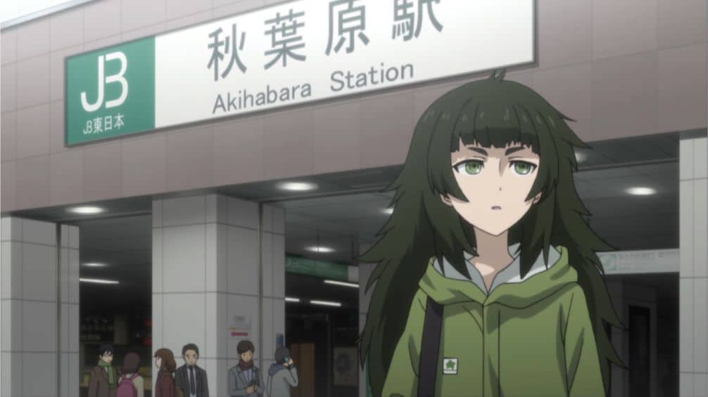Maho Hiyajo in front of Akihabara Station JR