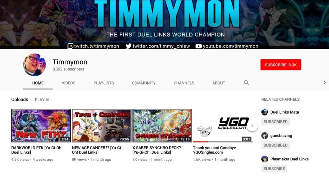 Timmy winning the YuGiOh World Championship 2017