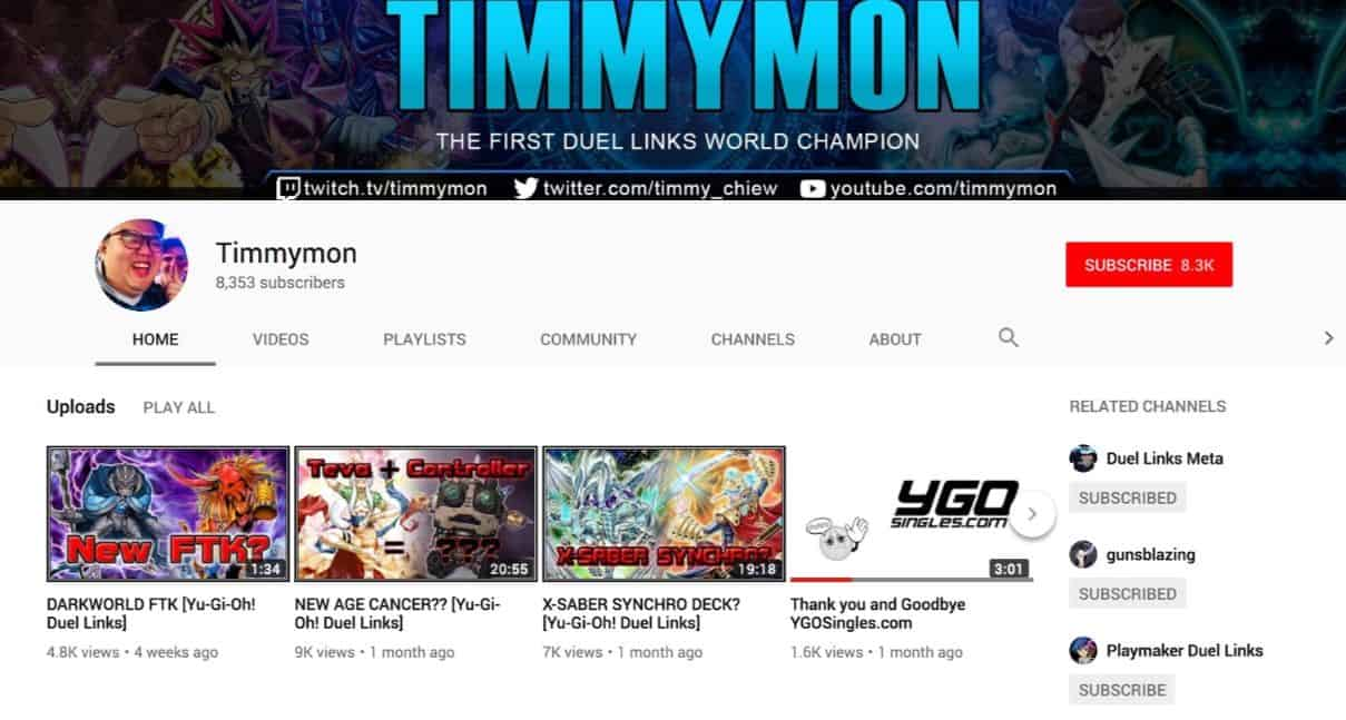 Timmymon's channel